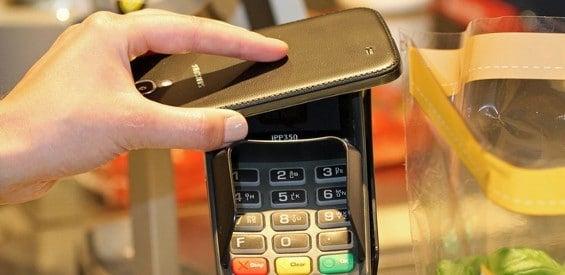 NFC-Zahlung bei REWE