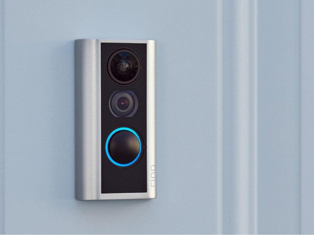 Ring Door View Cam an einer Tür