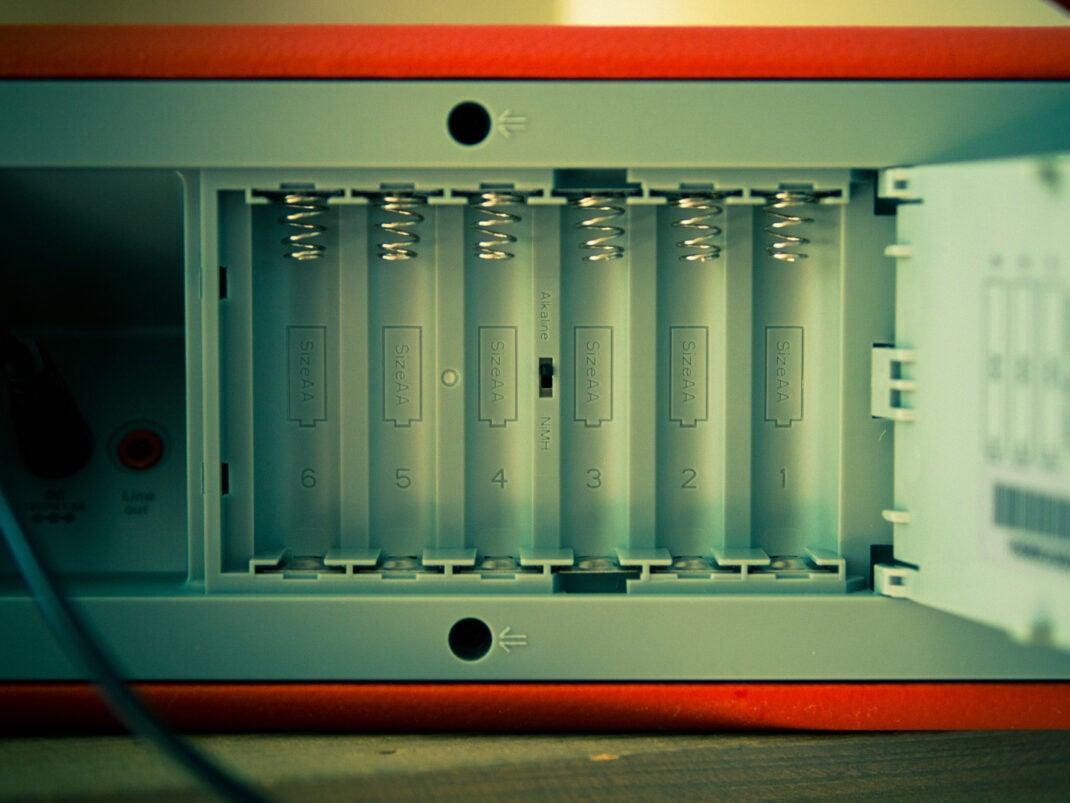 Batterien statt integrierter Akku.