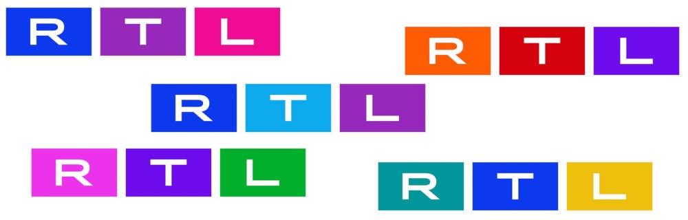RTL Logo 2021 in verschiedenen Farben