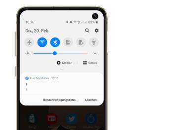 Samsung Screenshot mit 1 1 Nachricht