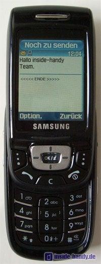 Samsung D500 - aufgeschoben