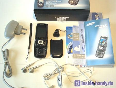 Samsung D500 - Lieferumfang