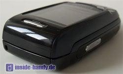Samsung D500 - Oberseite seitlich