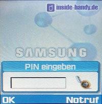 Samsung D500 - Pin Eingabe