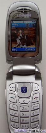 Samsung e620 - aufgeklappt