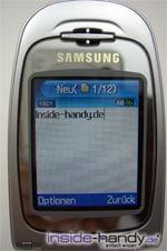 Samsung e620 - Display- inside-Handy