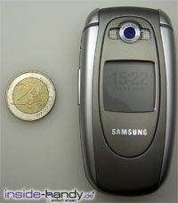 Samsung e620 - größe