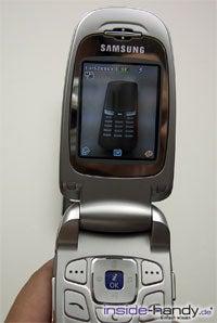 Samsung e620 - Haupdisplay