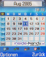 Samsung e620 - Kalender