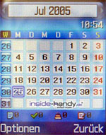 Samsung e720 - Kalender