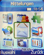 Samsung e720 - Menü