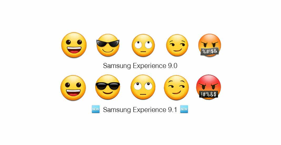 Samsung, Emoji, Experience, 9.1, Update, Smileys