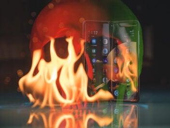 Samsung Galaxy Fold im Feuer