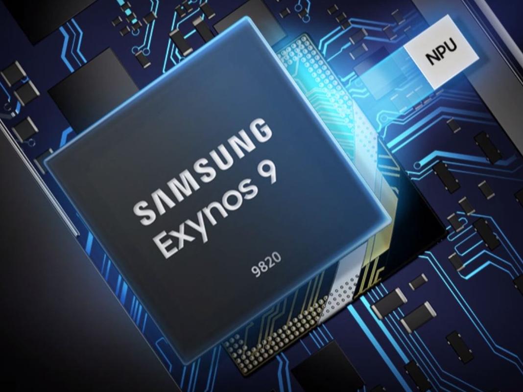 Samsung Exynos 9820: Chip mit blauer Beleuchtung