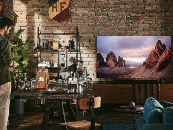 Samsung, Fernseher, TV, Wohnzimmer, Retro