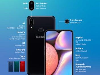 Samsung Galaxy A10s mit technischen Daten