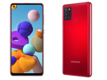 Samsung Galaxy A21s in Rot