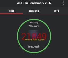 Samsung Galaxy A3 im AnTuTu-Benchmark