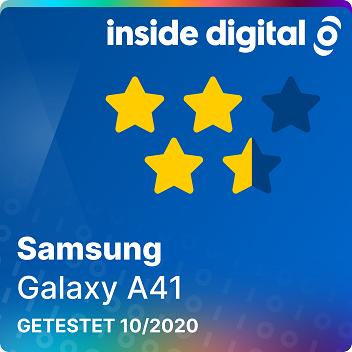 Testsiegel des Samsung Galaxy A41