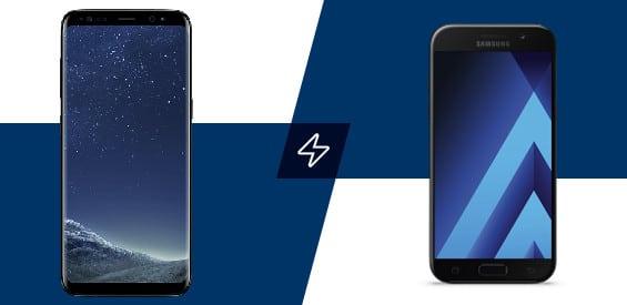 Samsung Galaxy A5 (2017) und Samsung Galaxy S8 im Vergleich