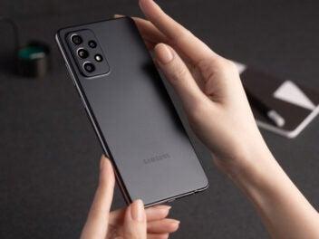 Samsung Galaxy A52 in der Farbe Schwarz