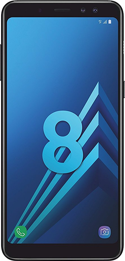 Samsung Galaxy A8 (2018) Schwarz Front