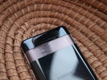 Die hintere Seite des Samsung Galaxy A80