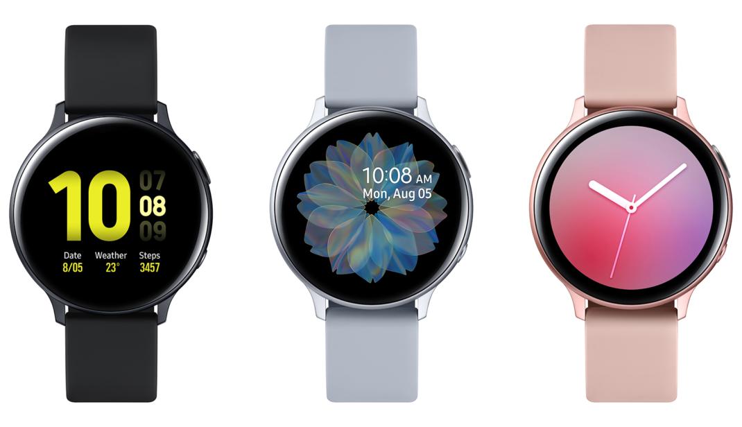 Smartwatches von Samsung in Schwarz, Grau und Rosa