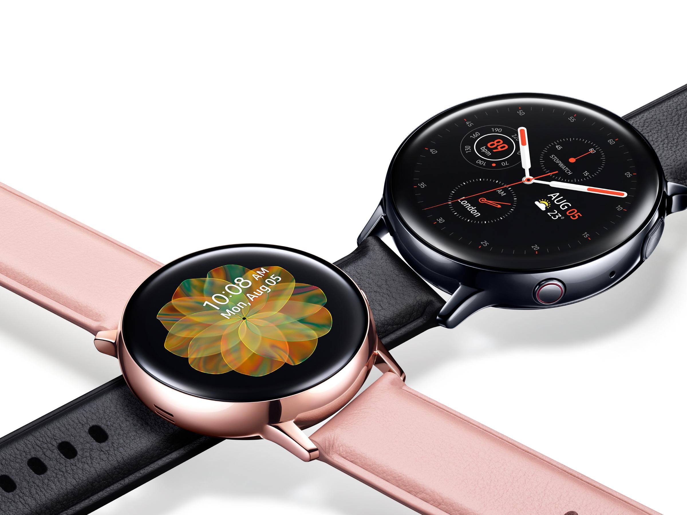 Samsung Galaxy Active 2 in Rosa und Schwarz