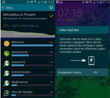 Samsung Galaxy Alpha Akku-Werte