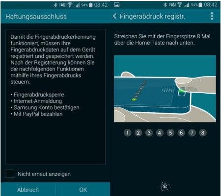 Samsung Galaxy Alpha Fingerabdruckscanner