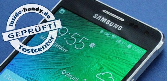 Samsung Galaxy Alpha mit Testsiegel