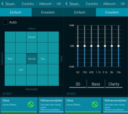 Samsung Galaxy Alpha Musik-Player