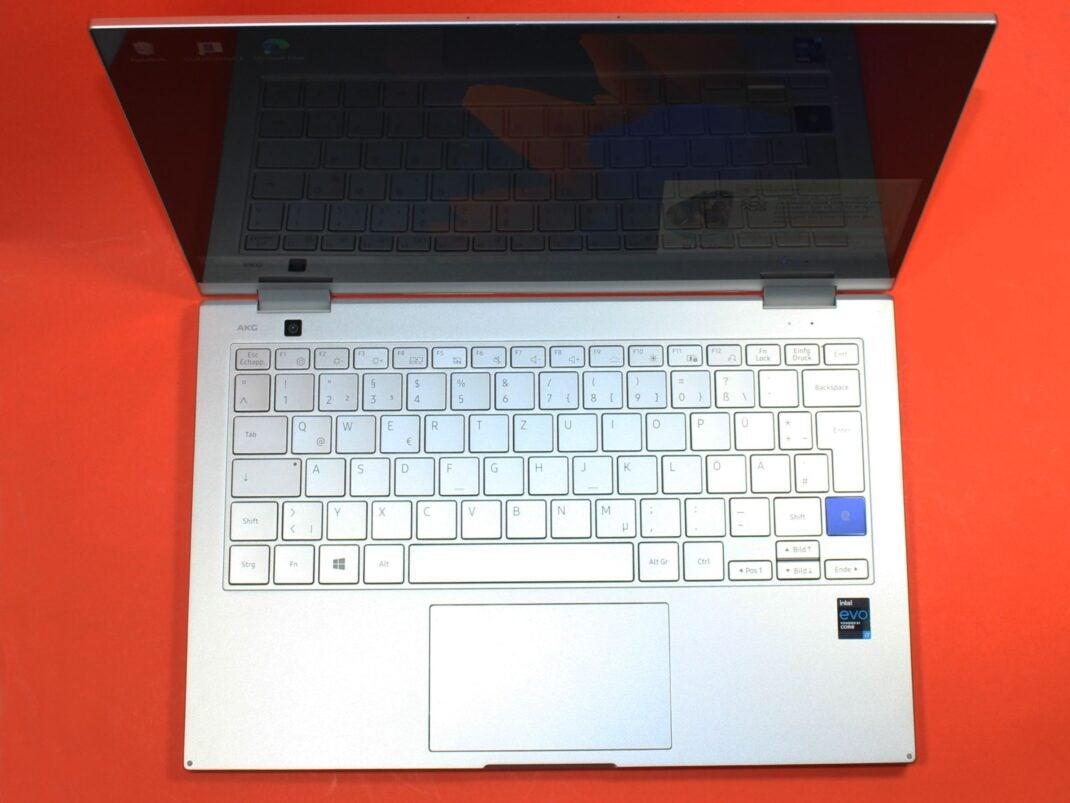 Tastatur des Samsung Galaxy Book Flex 2