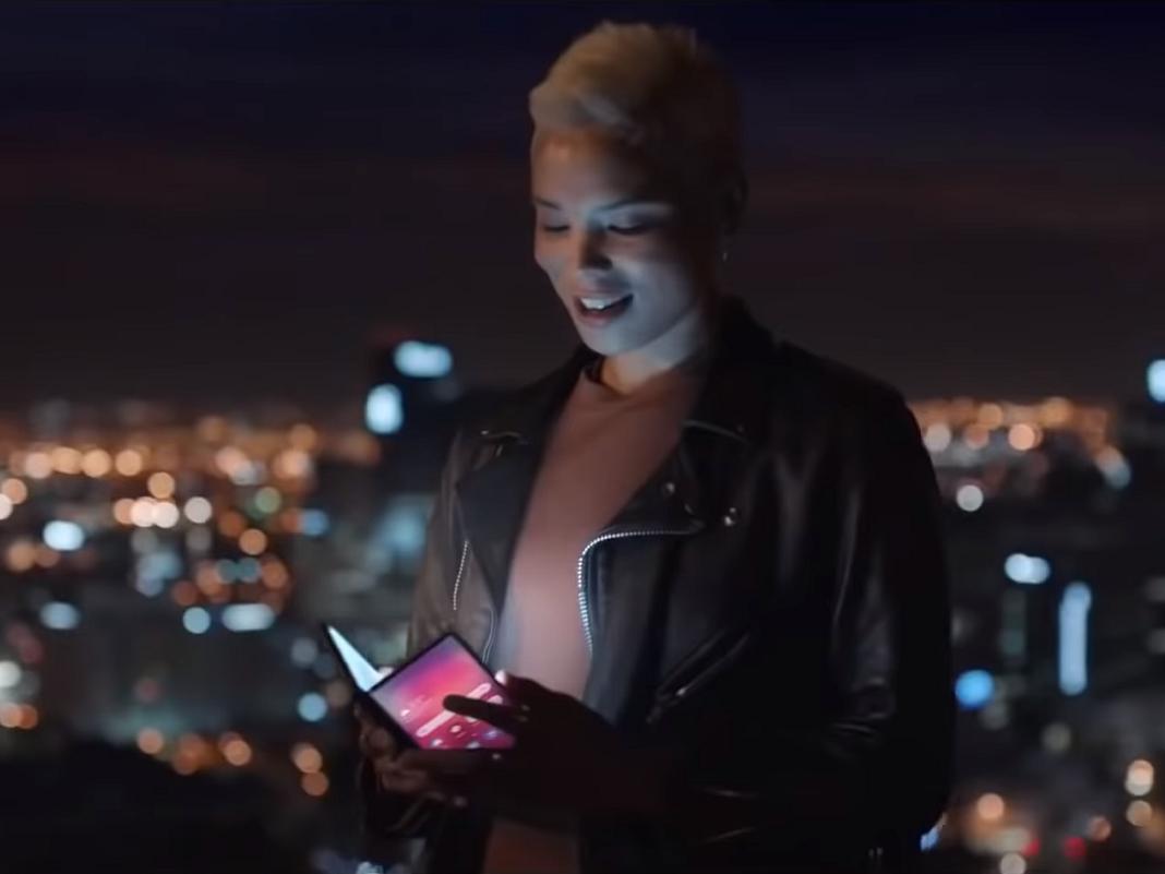 Faltbares Samsung-Handy im Video