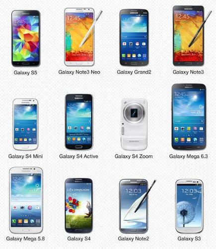 Samsung Galaxy Geräte