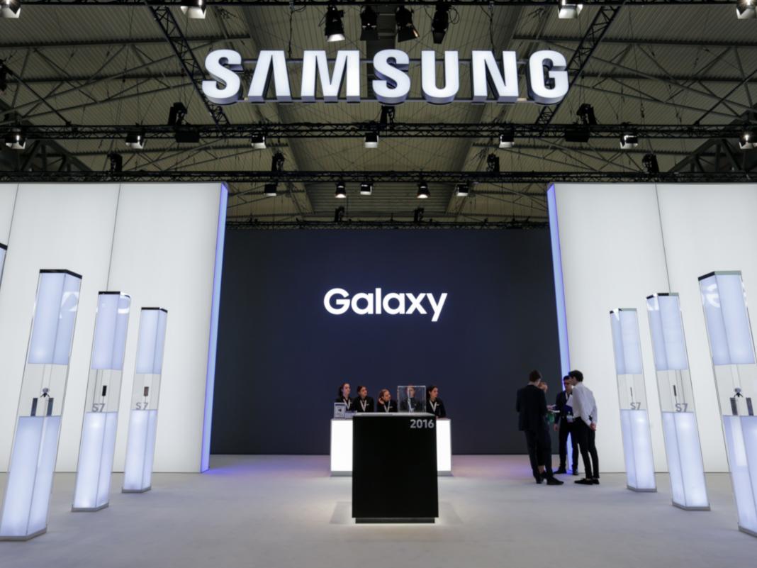 Samsung Messestand auf dem MWC