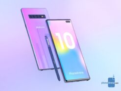 Renderbild des Samsung Galaxy Note 10.