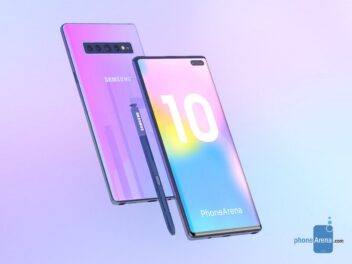 Renderbild des Samsung Galaxy Note 10.