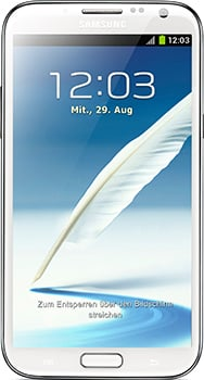 Samsung Galaxy Note 2 Datenblatt - Foto des Samsung Galaxy Note 2