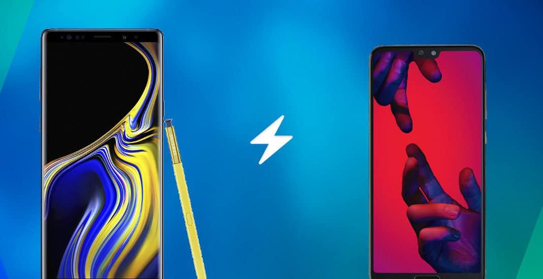 Samsung Galaxy Note 9 vs Huawei P20 Pro