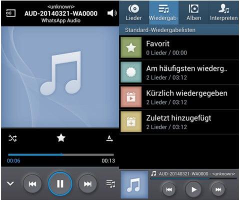 Samsung Galaxy S Duos 2 Musik