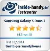 Samsung Galaxy S Duos 2 Testsiegel