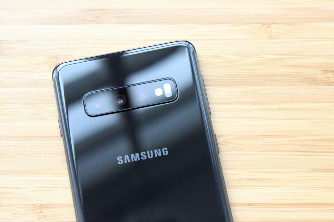 Die Triple-Kamera auf der Rückseite des Samsung Galaxy S10