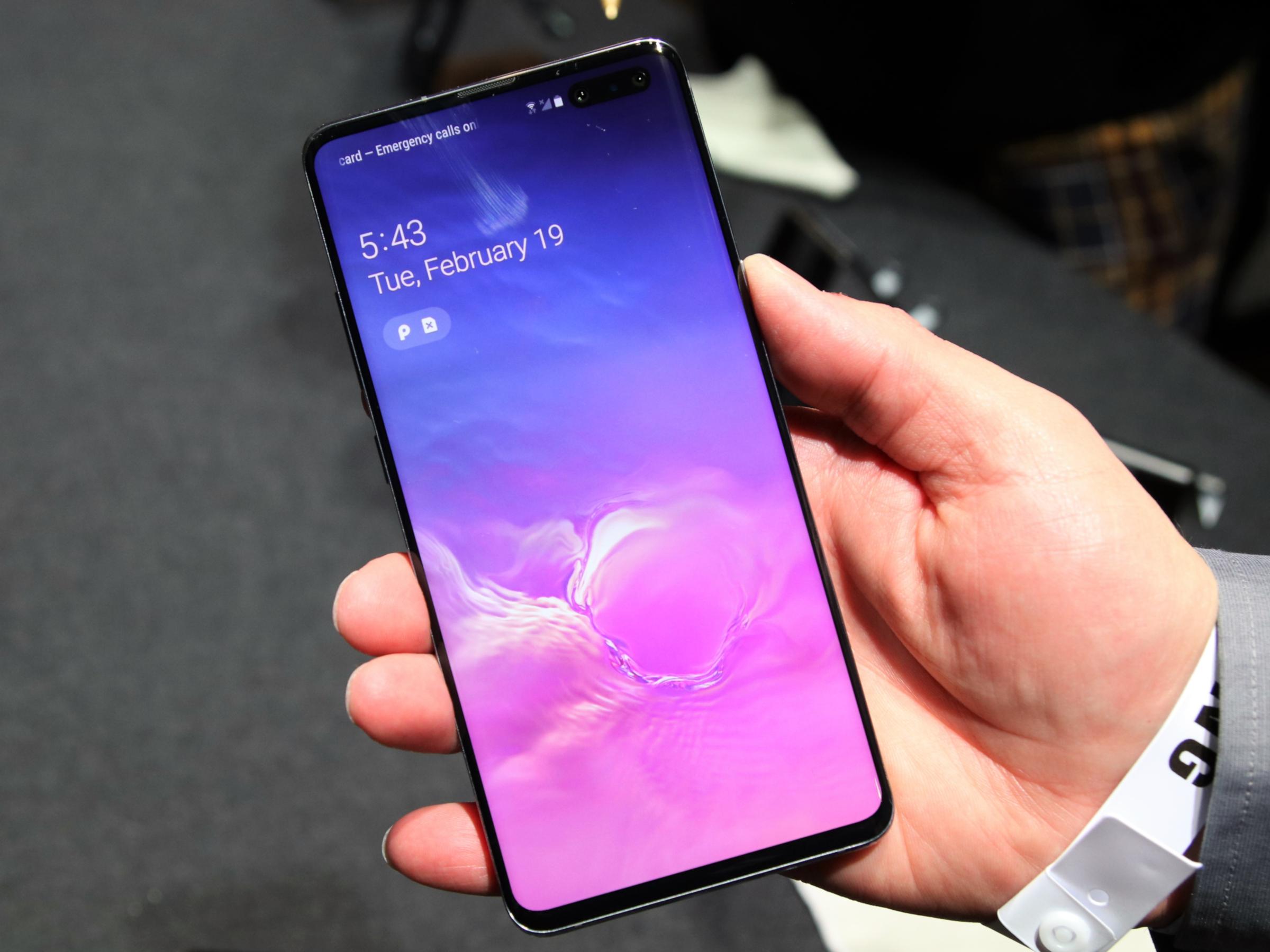Die Front des Samsung Galaxy S10 5G
