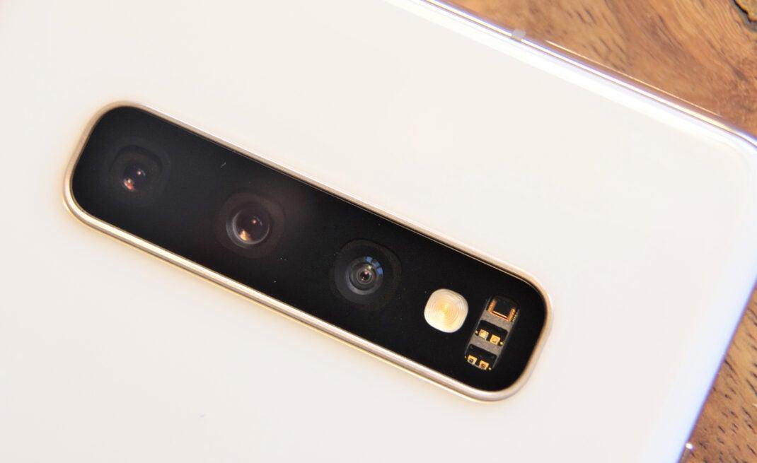 Die drei Kameras des Samsung Galaxy S10+