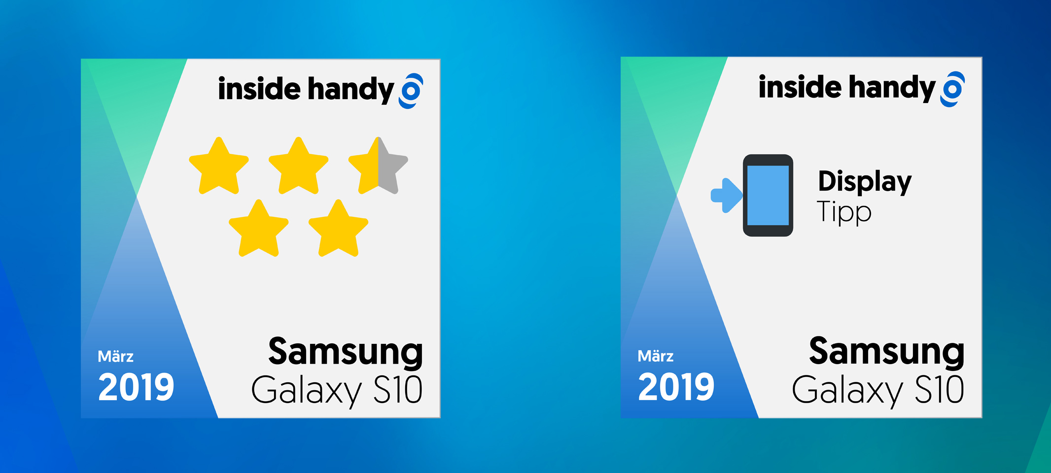 Samsung Galaxy S10 Test- und Display-Siegel