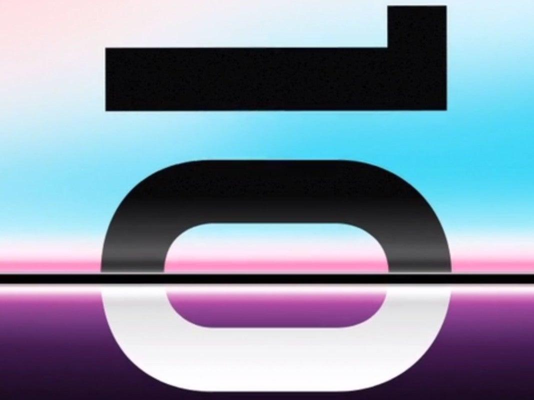 Die Zahl Zehn, die auf das Samsung Unpacked 2019 hinweist