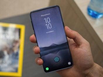 Konzept des Samsung Galaxy S10 mit Ultraschall-Fingerabdruck-Sensor